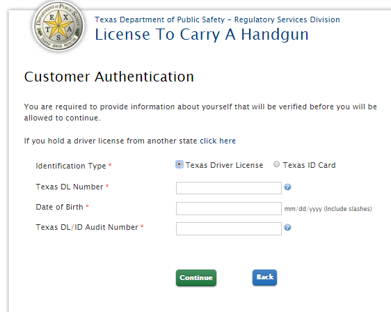 texas drivers license audit number location