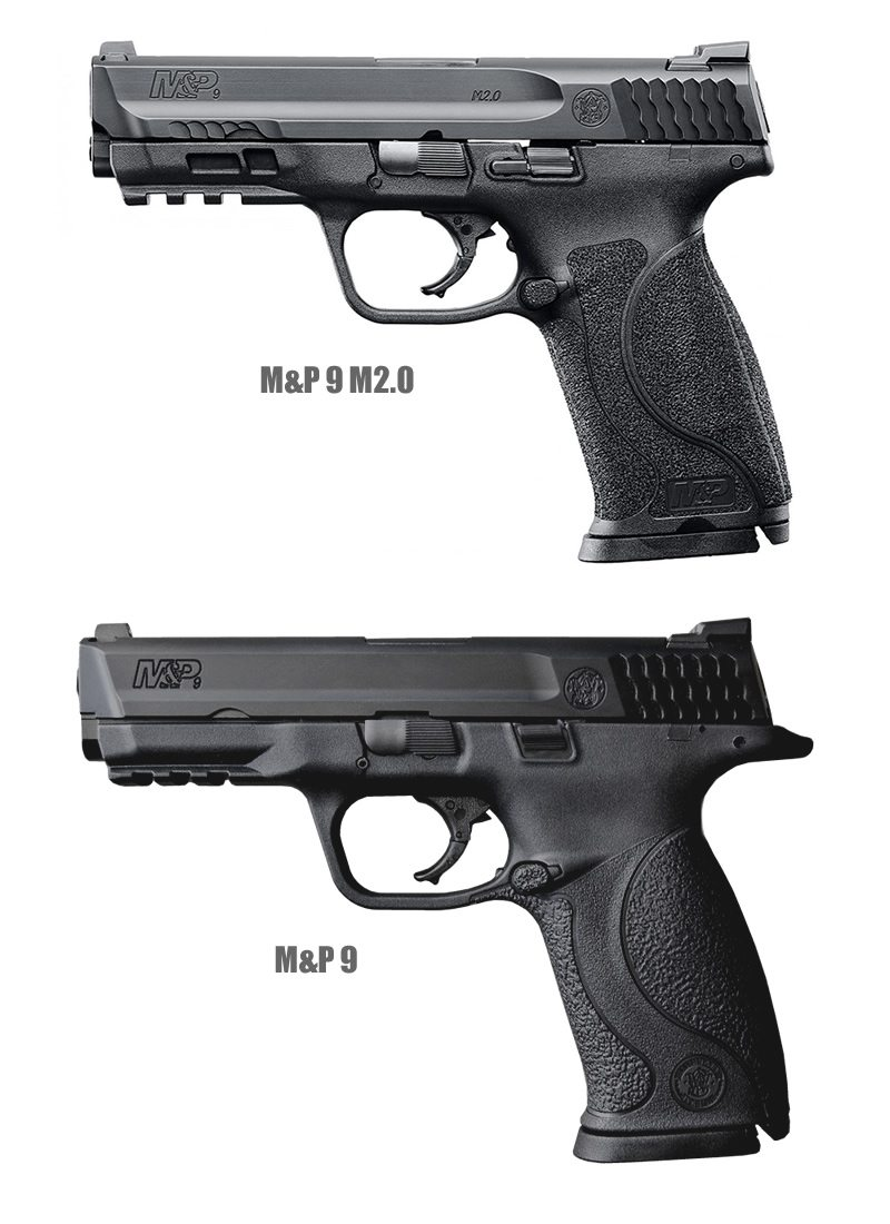 M&P 9 v1 and M2.0 comparison