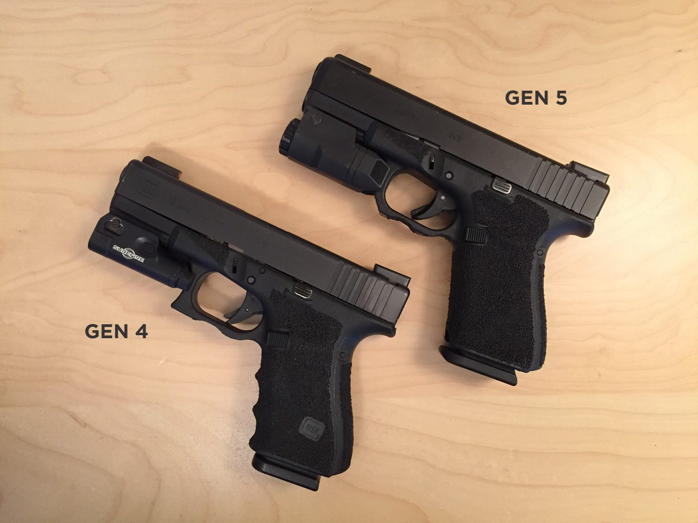 Glock 19 Gens 4 and 5