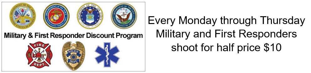 Half Price Shooting Range - Military & First Responders