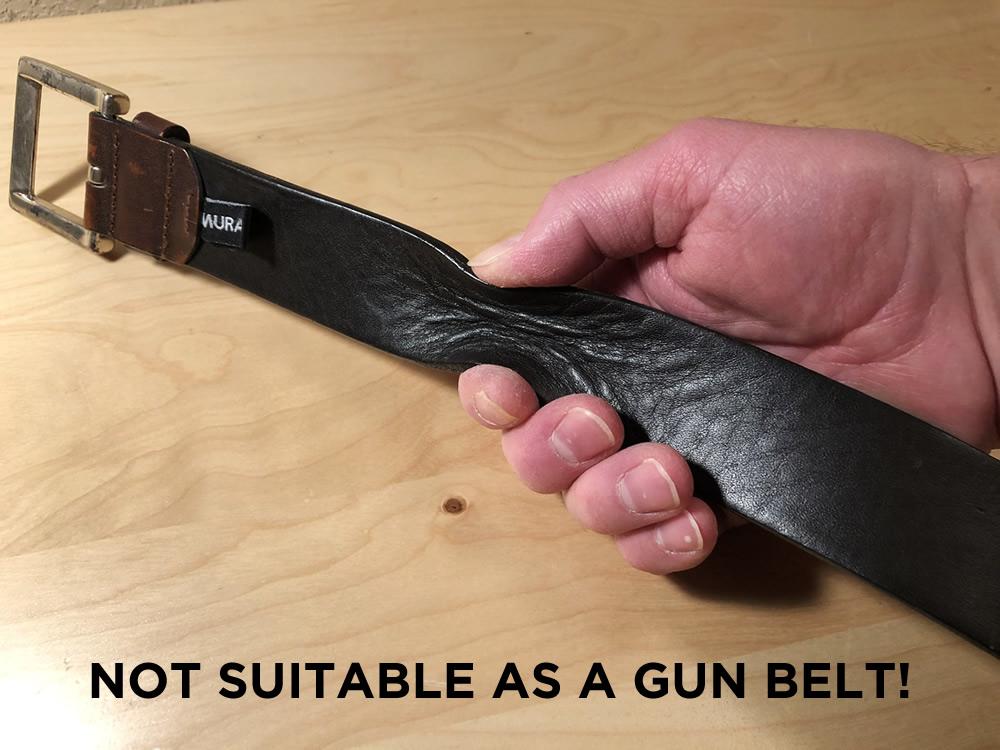 an unsuitable gun belt