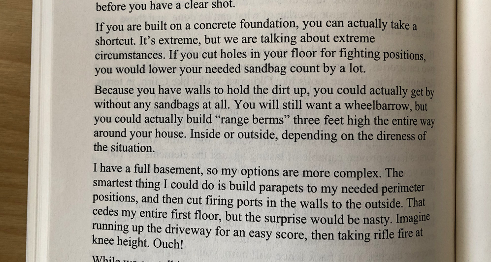 advice on fortifications